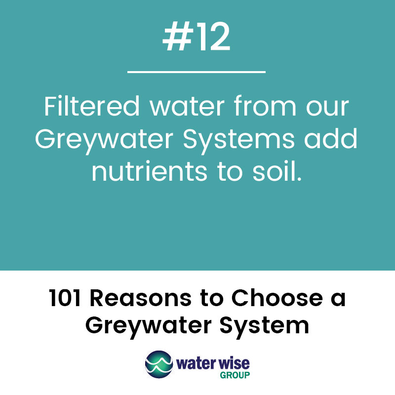 Filtered water from out Greywater Systems add nutrients to soil