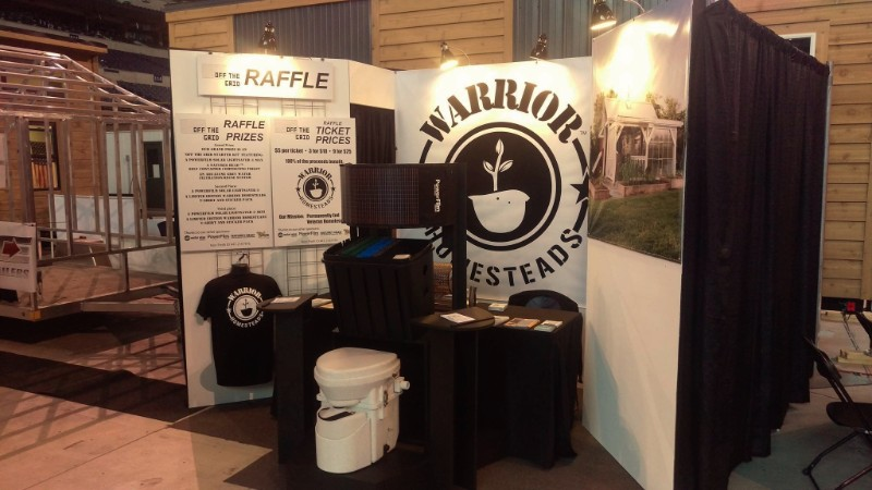 Warrior Homestead Midwest Outdoor Expo Booth